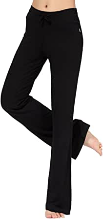 BOZEVON Women Yoga Pants Ladies Trousers Casual Straight Leg Pilates Pants with Drawstring for Workout Gym Running Joggers