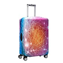 Washable Travel Luggage Cover Myosotis510 3D Colorful Galaxy Suitcase Protector 18-32 Inch