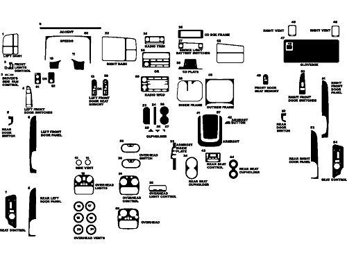 Rdash Dash Kit Decal Trim for Chevrolet Avalanche / Silverado / Suburban / Tahoe / GMC Sierra / Suburban 2003-2006 - Carbon Fiber 3D (Black)