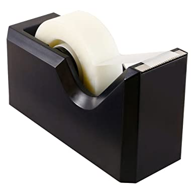 JAM PAPER Colorful Desk Tape Dispensers - Black - Sold Individually