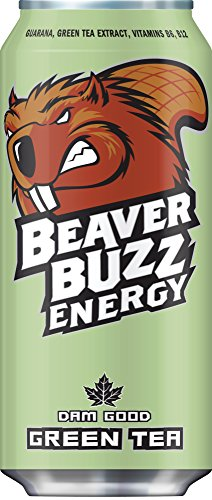 Canadian Beaver Buzz (GREEN Can) GREEN TEA Energy Drink - 16oz x 12pk