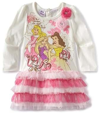 Disney Little Girls' Toddler Disney Princess Dress, Light Beige, 2T