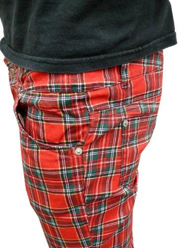 Womens Trousers Skinny Jeans Tartan Punk Mens Mod or Drainpipes fAw0qnC5Z