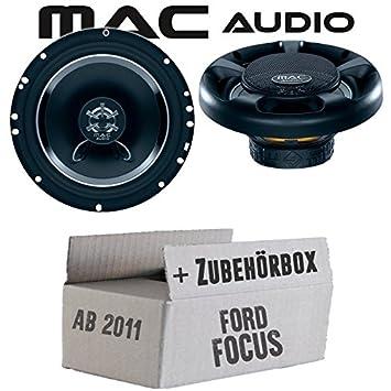 Ford Focus 3 Frontal Trasera - Altavoces de Audio Mac Street - 16 cm 280 W Auto Kit de Montaje - Empotrable Set: Amazon.es: Electrónica