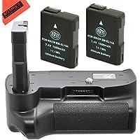 Battery Grip Kit for Nikon D3100 D3200 D3300 Digital SLR Camera Includes Qty 2 Replacement EN-EL14 Batteries + Vertical Battery Grip + More!!