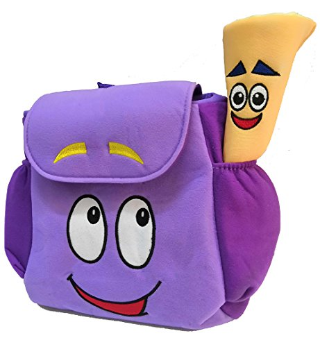 XKYMADE 12inch Dora Explorer Backpack Rescue Bag with Map,Pre ... on
