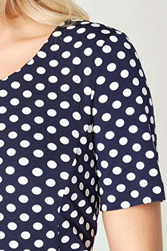 Femmes Originals 48 Roman 38 Tailles Pois Marine Robe Bleu HIqxwTdq