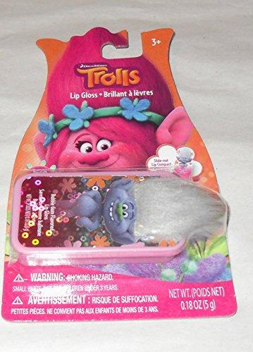 Dreamworks Trolls Lip Gloss - Bubble Gum Flavor Lip Gloss in