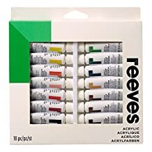 Reeves Acrylic Paint-10ml, Set of 18