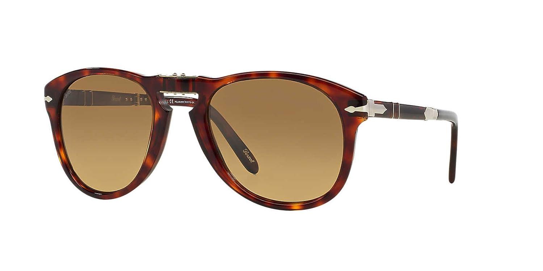 3f29dbc09aa Amazon.com  Persol Steve McQueen PO714SM - 24 81 Polarized Folding  Sunglasses 54mm  Clothing
