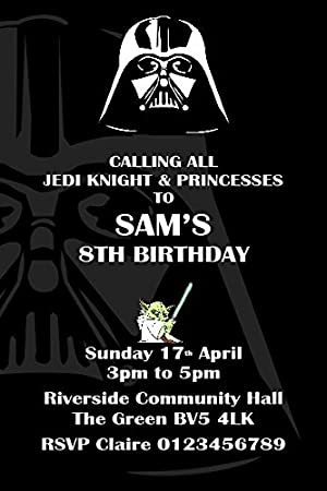 Personalised Star Wars Birthday Party Invitations X10 Amazoncouk Toys Games