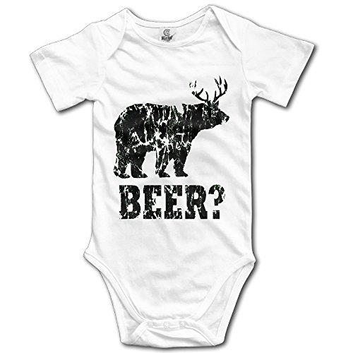 Baby BEAR+DEER=BEER You Know You Love Me Bodysuit Cotton Baby Onesie