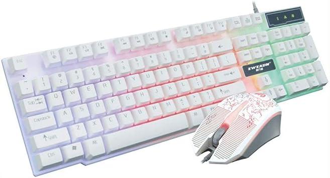 KINGXX-01 Pack de Teclado y ratón inalámbricos Antiguo Juego ...