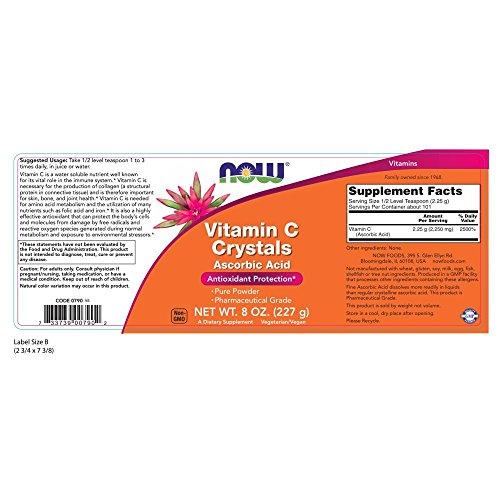 NOW Vitamin Ascorbic Powder, 8