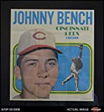 1970 Topps Baseball Posters # 11 Johnny Bench Cincinnati Reds (Baseball Card) Dean's Cards 8 - NM/MT Reds