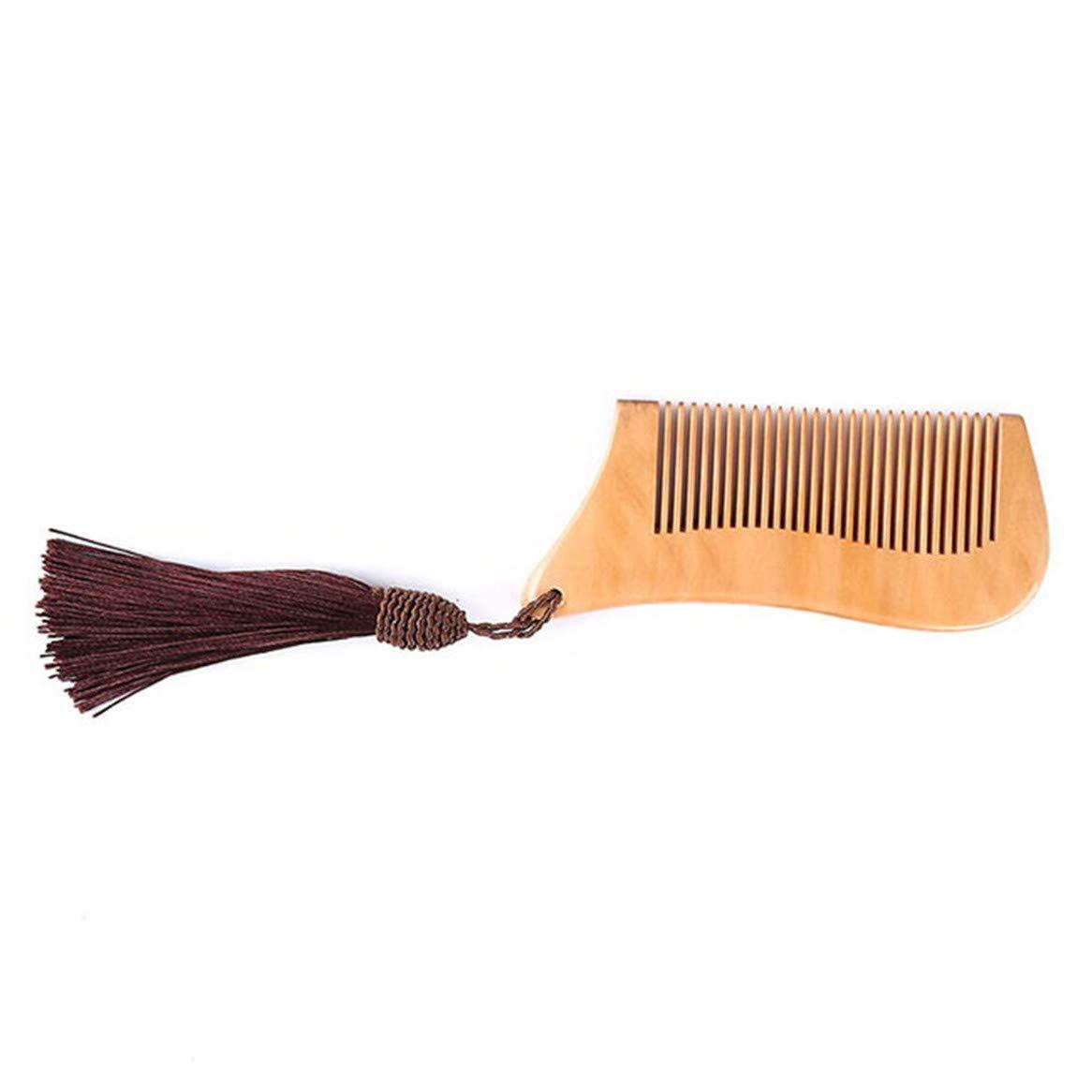 braun Botreelife Natural Peach Holzkamm mit Quasten Antistatische Massage Haare geschnitzt K/ämme