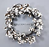 Real Cotton Wreath - 18''-28'' - Adjustable Stems - Farmhouse Decor - Wedding Centerpiece