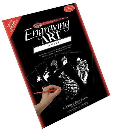 Royal & Langnickel WHT-1114 11 x 14 Engraving Art Blank Board White Foil