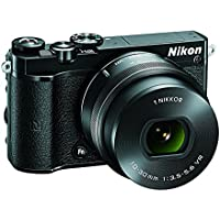 Nikon 1 J5 Mirrorless Digital Camera w/ 10-30mm PD-ZOOM Lens (Black) (International model)