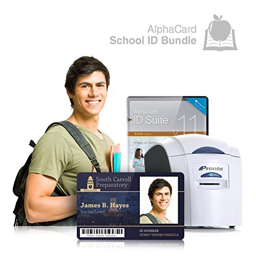 School ID Card Printer System for Student, Teachers, and Administrators: Everything you need for your school: AlphaCard printer, design software, ID Supplies by AlphaCard