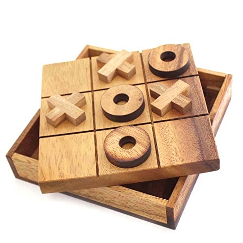 Handmade Tic Tac Toe Wooden Board Games Noughts and Crosses
