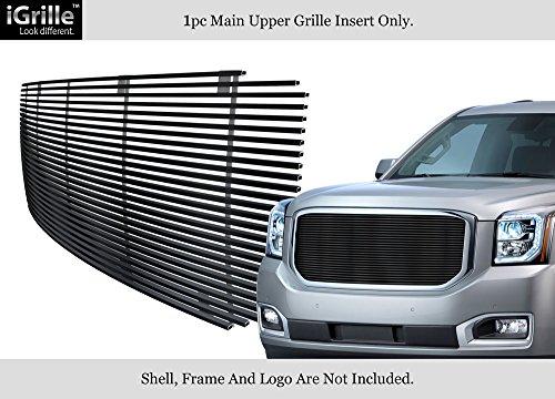 APS Compatible with 2015-2020 GMC Yukon Denali Black Stainless Steel Upper Billet Grille Insert N19-J82368G
