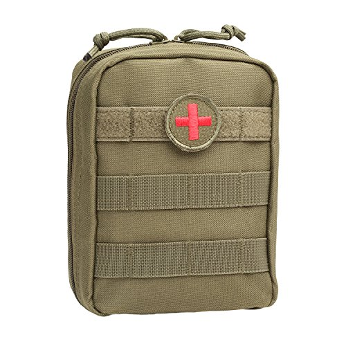 Trauma Kit Bag - Orca Tactical MOLLE EMT Medical First Aid Utility Pouch (Bag Only) (OD Green)