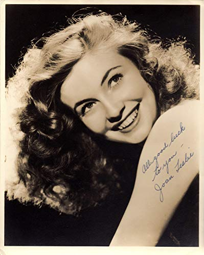 Hand Vintage Signed (JOAN LESLIE Autographed Vintage Hand SIGNED 1940's Vintage Double Weight 8x10 Photo w/COA Vintage Hollywood Actress)