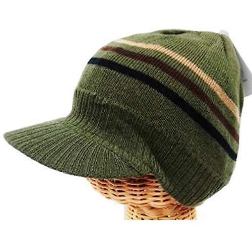 BUNFIREs Sombrero de Punto Unisex de Verano con Visera de Invierno y  Ganchillo para Hombres y 7c8e8943cdc