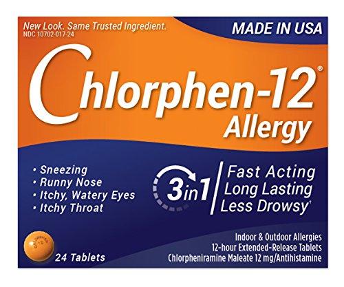Chlorphen Chlorpheniramine Maleate, 12 Mg Extended Realease,