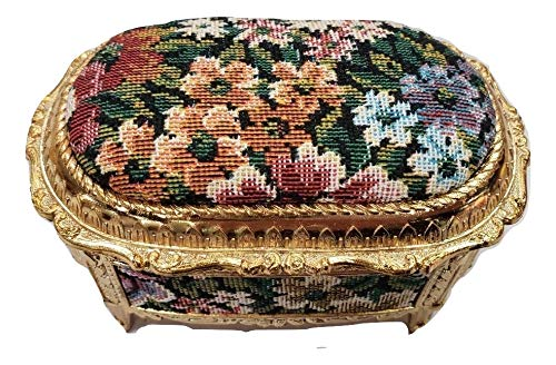 Tapestry Musical Jewelry Box plays Candle In The Wind