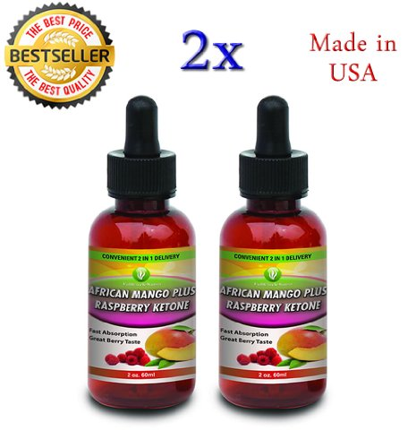 Mango + cétone framboise gouttes de liquide 2 oz africains (2 Pack)