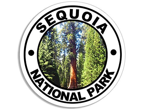 Round SEQUOIA National Park Sticker (decal rv hike hiking)
