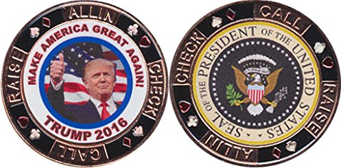 Donald Trump Make America Great - Presidential Seal Card Guard by Vegas Gaming Supplies