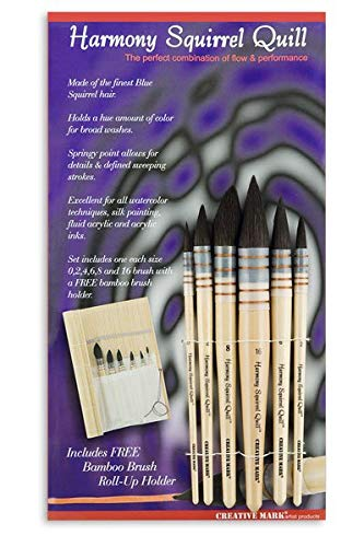 Harmony Squirrel Quill Set of 6 by Creative Mark Harmony Quill