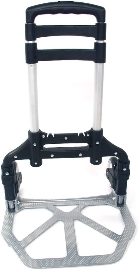 Auto Hand Trucks Portable Hand Trolley Folding Aluminum Cart Dolly Push Truck Trolley Warehouse Hand Truck for Home Office
