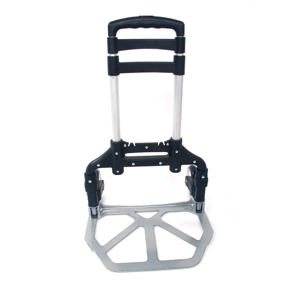 WisHome Portable Folding Collapsible Aluminum Cart Dolly Push Truck Trolley Black by WisHome (Image #3)