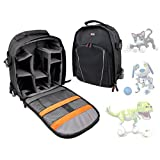 DURAGADGET Premium Quality, Water-Resistant Compact Backpack Organiser For NEW Zoomer Kitty / Zoomer Dino / Zoomer Zuppies Kids Robot Animals - with Customizable Interior & Additional Raincover