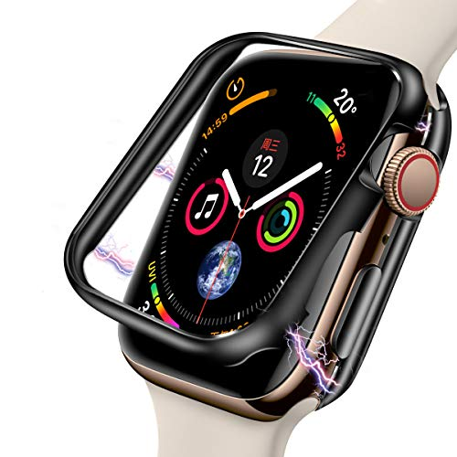 Case for Apple Watch 44mm,[Magnetic Adsorption Technology ][Aluminum Metal Frame],IWatch Full Protective Shock-Proof Bumper Case Cover for Apple Watch Series 4 ()