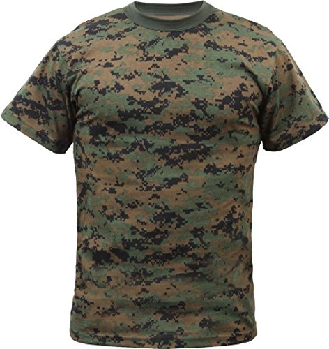 Digital Camo Tactical T-Shirt Camouflage Military Tee Short Sleeve Army Tshirt ()