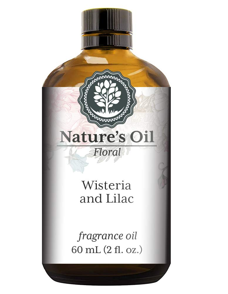 Wisteria and Lilac Fragrance Oil (60ml) For Diffusers, Soap Making, Candles, Lotion, Home Scents, Linen Spray, Bath Bombs, Slime