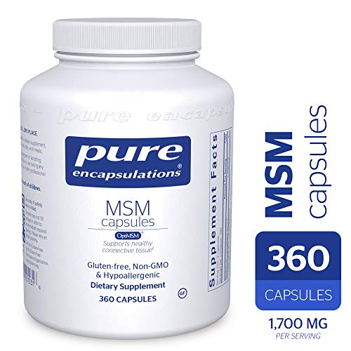 Pure Encapsulations - MSM Capsules - Hypoallergenic Supplement Supports Joint, Immune, and Respiratory Health* - 360 Capsules