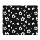 CafePress - Soccer Balls Pattern - Soft Fleece Throw Blanket, 50''x60'' Stadium Blanket