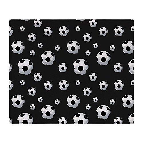 CafePress - Soccer Balls Pattern - Soft Fleece Throw Blanket, 50''x60'' Stadium Blanket by CafePress