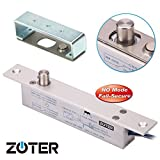 NO Mode DC 12V, ZOTER Deadbolt Strike Electric Drop Bolt Timer Door Lock Fail-Secure