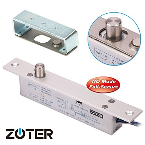 NO Mode DC 12V, ZOTER Deadbolt Strike Electric Drop Bolt Timer Door Lock Fail-Secure by ZOTER