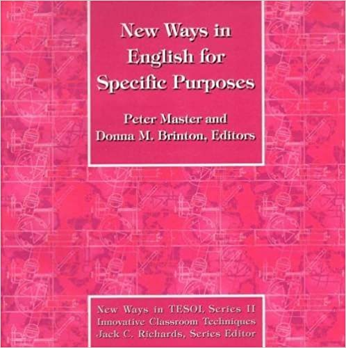 New Ways in English for Specific Purposes (New Ways in Tesol Series II) by Peter Antony Master (1998-01-01)