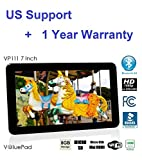 Best Value Tablet ValuePad VP111 7″ 8GB Bluetooth 4.0 HDMI Android 4.4 KitKat Google Play 3D Game Dual Core 1.3GHz 1080P Dual Camera, FCC Certified, 1 Year Warranty, BBB Accredited, Best Gadgets