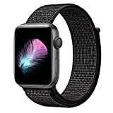 HILIMNY Compatible with for Apple Watch Band 40mm, Soft Nylon Sport Loop, Band Compatible with for iwatch Series 4, Series 3, Series 2, Series 1 (40mm, Black Nike)