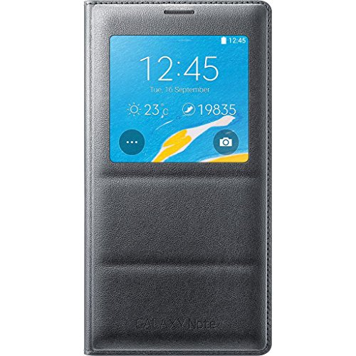 Samsung Galaxy Note 4 Case, S View Flip Cover Folio Case – Charcoal Black